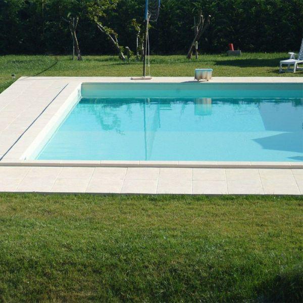 Styropor Pool Set 8,00 x 4,00 x 1,50 m sand