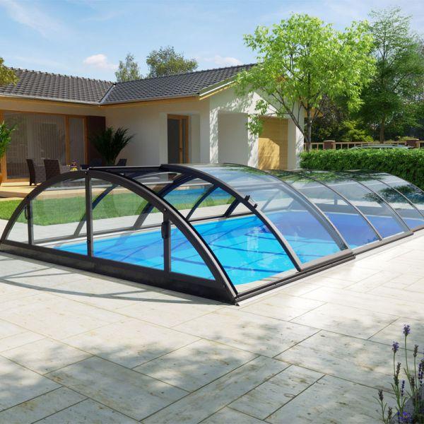 Albixon Poolüberdachung Klasik Clear C 501 x 1060 cm