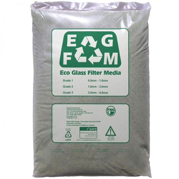 ECO Filter Glas Filtermedium Grade 2 1,0 - 3,0 mm