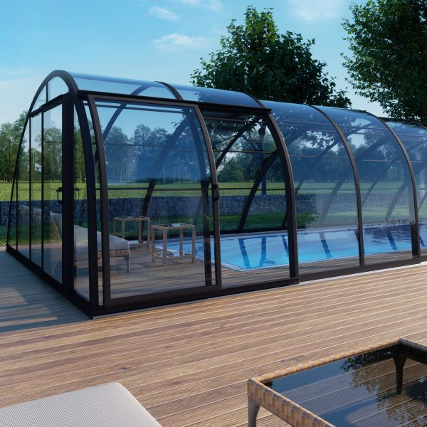 Albixon Poolüberdachung Monaco Future 646 cm lang