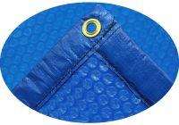 Solarfolie 400 my blau Ovalbecken 8,00 x 4,00 m