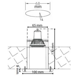 Zeichnung-LED-Einbauleuchte