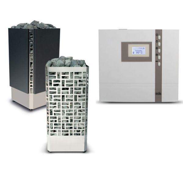 Saunaofen Set Edge bis 9 kW inkl. EOS ECON D1 Steuerung