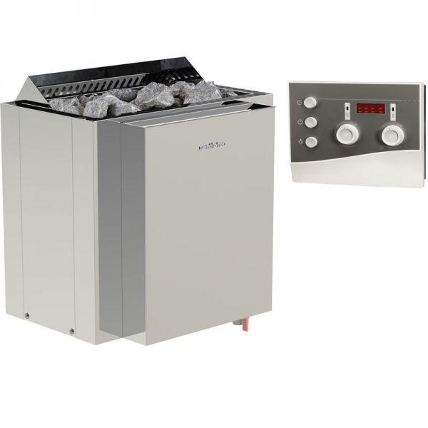 Saunaofen Set Bio Dampfsauna bis 9 kW inkl. K3 Saunasteuerung