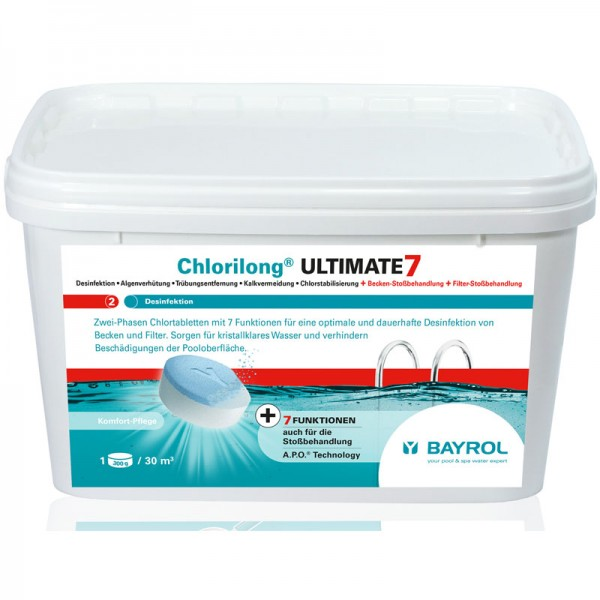 Bayrol Chlorilong Ultimate 7 mit Clorodor Control Kapsel 4,8 kg