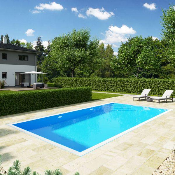 Albixon QBIG Benefit Plus Pool mit Überlauf 3,50 x 7,00 m