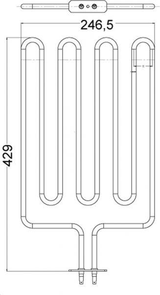 Heizstab EOS Saunaofen 2666 W 2001.3158