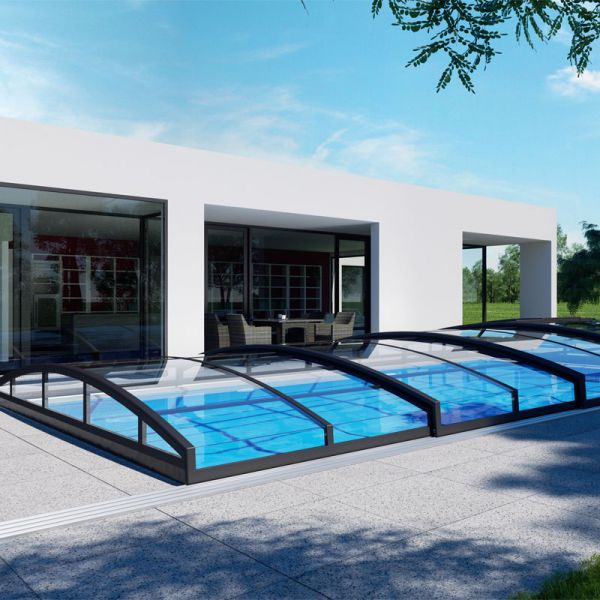 Albixon Poolüberdachung Casablanca Infinity B 446 x 850 cm