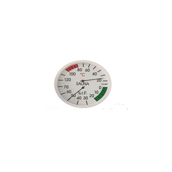 Sauna Thermometer und Hygrometer weiß rund
