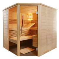 Sauna Infrarotsauna Alaska Corner Infra+ 2,06 x 2,06 m