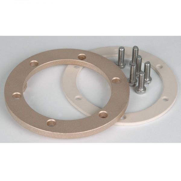 Flansch für Bodenablauf mit Antiwirbeldeckel V4A aus Bronze