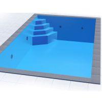 Styropor Pool Set 6,00 x 3,00 x 1,50 m mit Ecktreppe Smaragd