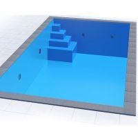 Styropor Pool Set 8,00 x 4,00 x 1,50 m mit Ecktreppe Smart