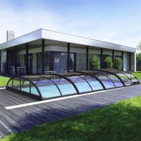 Albixon Poolüberdachung Klasik Clear B PRO 413 x 850 cm