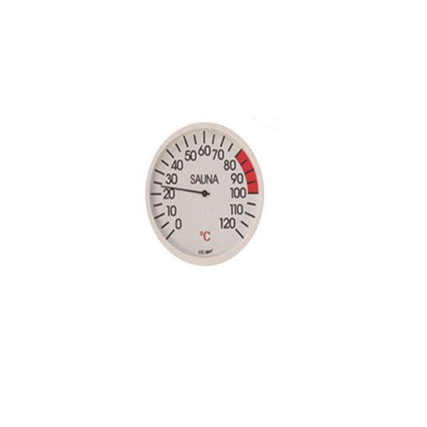 Sauna Thermometer weiß rund