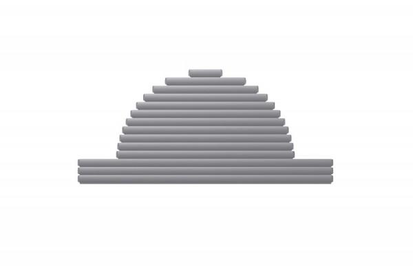 BAC römische Treppe abgestuft