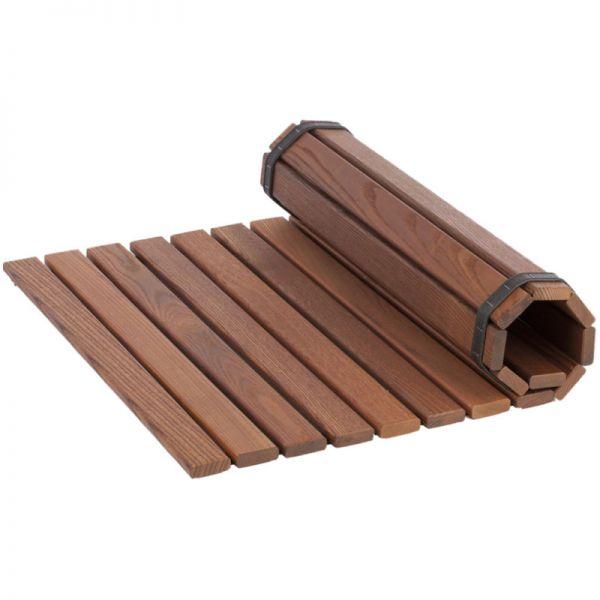 Sauna Bodenmatte aus Thermoholz 60 x 80 cm