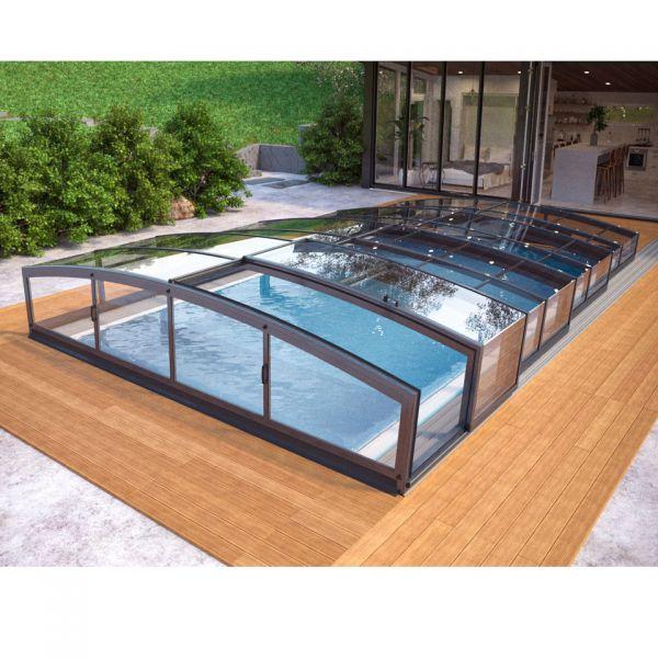 Albixon Poolüberdachung Miami 1287 cm lang
