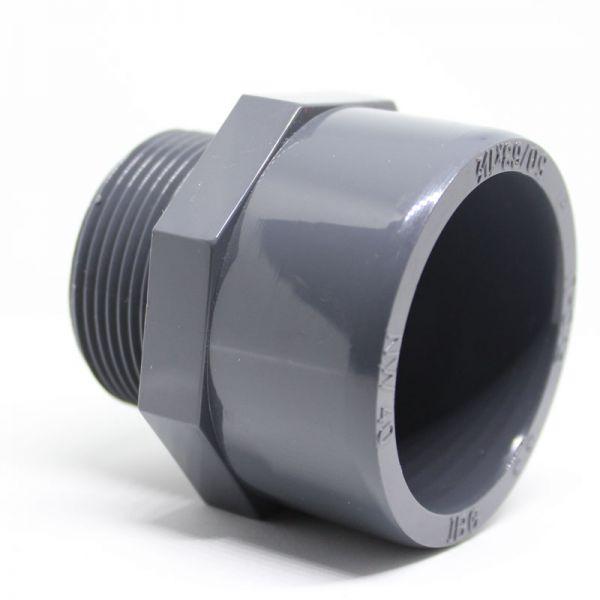 """PVC Übergangsmuffe d 40 x 1 1/4"""" AG"""