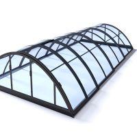 Albixon Poolüberdachung Klasik Clear B 415 x 850 cm