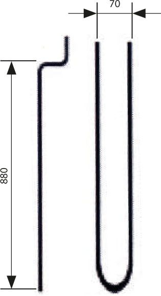 Verdampfer Heizstab Kräuterdampfsäule 2000 W 2000.8751