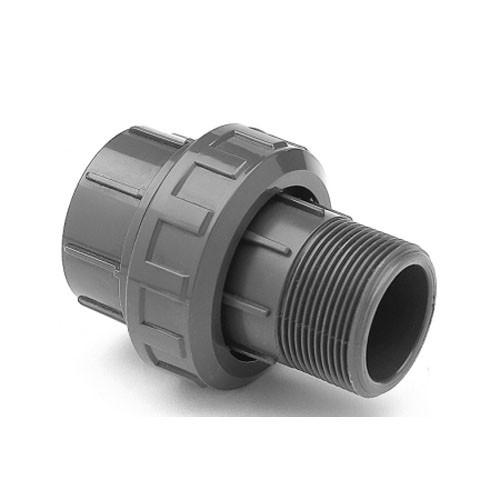"""PVC Verschraubung d 50 mm x 1 1/2"""" AG"""