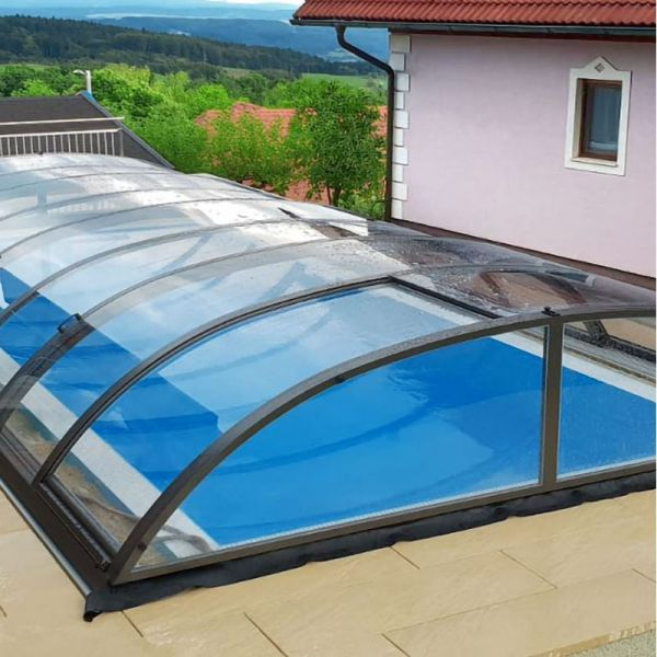 Mountfield Poolüberdachung Compact Clear K3 6,42 x 3,30 x 0,72 m