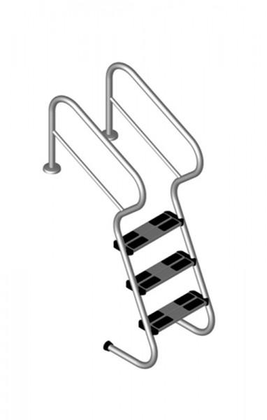 Einbautreppe Edelstahl V2A mit Sicherheitsstufe