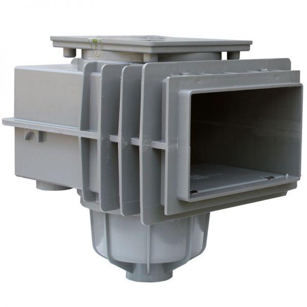 MTS V20 Skimmer ABS Edelgrau Betonbecken hoher Wasserstand ohne Flansch