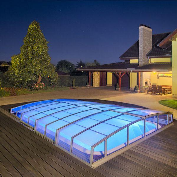 Albixon Poolüberdachung Casablanca Infinity 1073 cm lang