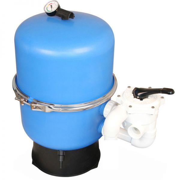 Sandfilterbehälter Zirkel d 600 mm inkl. Ventil