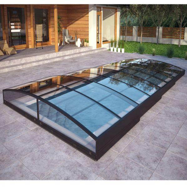 Albixon Poolüberdachung Sydney Clear B 402 x 852 cm