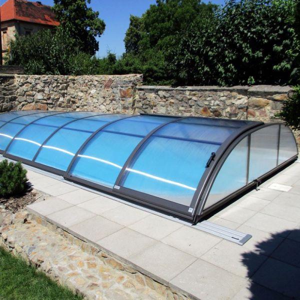 Alukov Poolüberdachung Azure Flat 4,25 x 8,55 m