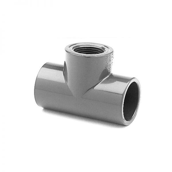 "PVC T-Stück 90° d 50 x 1 1/2"" IG"