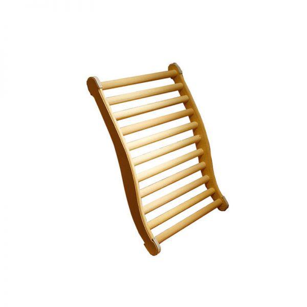 Sauna Rückenlehne ergonomisch