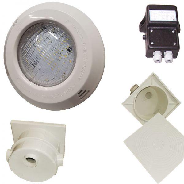 Pool Scheinwerfer Set PS mit LED Birne RGB 30 W 12V