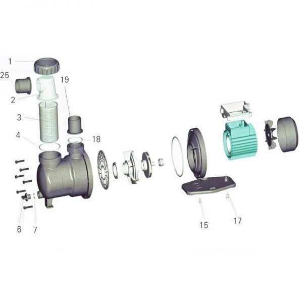 Saugsieb Vorfilterkorb SPS Pumpe