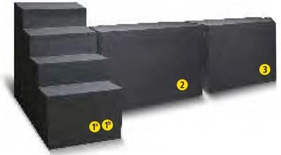 Styropor-Pool-Sitzbank-breite