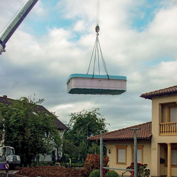 Mit Kranentladung max. 48 Meter Ausleger
