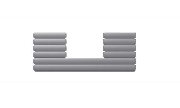 BAC Ausschnitt mittig Lamellen