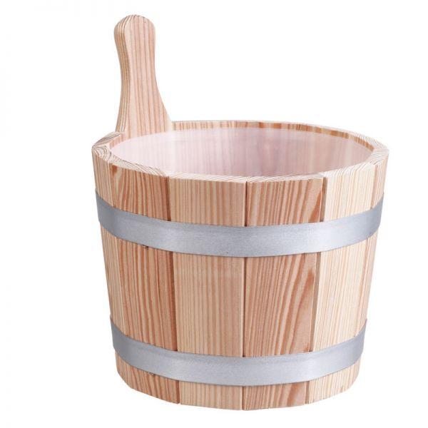 Sauna Aufguss Kübel 5 L Lärchenholz inkl. Saunakübel Einsatz