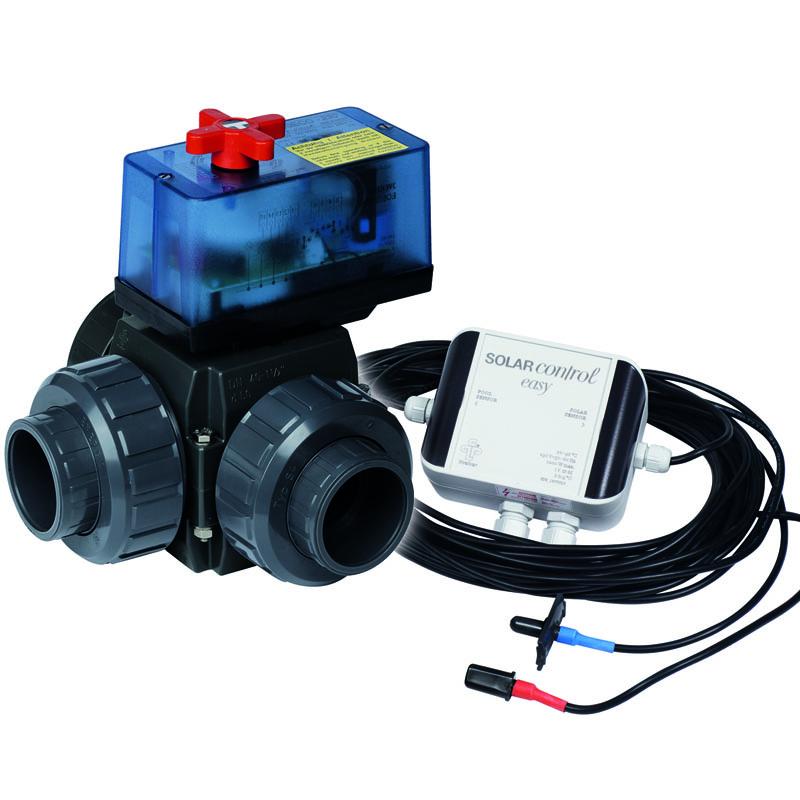 Solarsteuerung Solar Control Easy 230V mit 3 Wege Kugelhahn