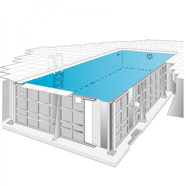 Sunstar Rechteck Pool Set 6,00 x 3,00 x 1,50 m
