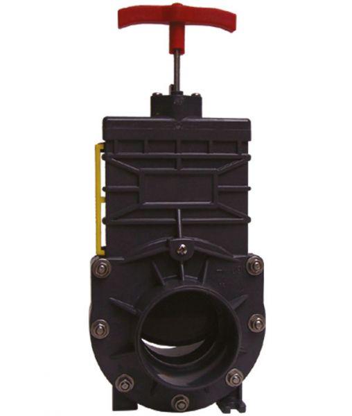 PVC Absperrschieber d 63 mm grau Klebemuffe