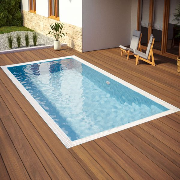 Albixon QBIG Benefit Plus Pool mit Überlauf 3,00 x 7,00 x 1,50 m