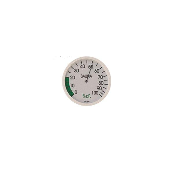 Sauna Hygrometer weiß rund