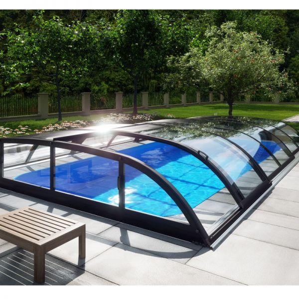 Albixon Poolüberdachung Dallas Clear A 363 x 635 cm