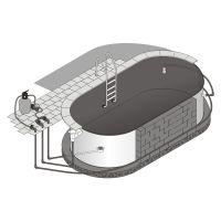 Pool Verrohrungsset 1 Skimmer 2 Einlaufdüsen bis 12 m
