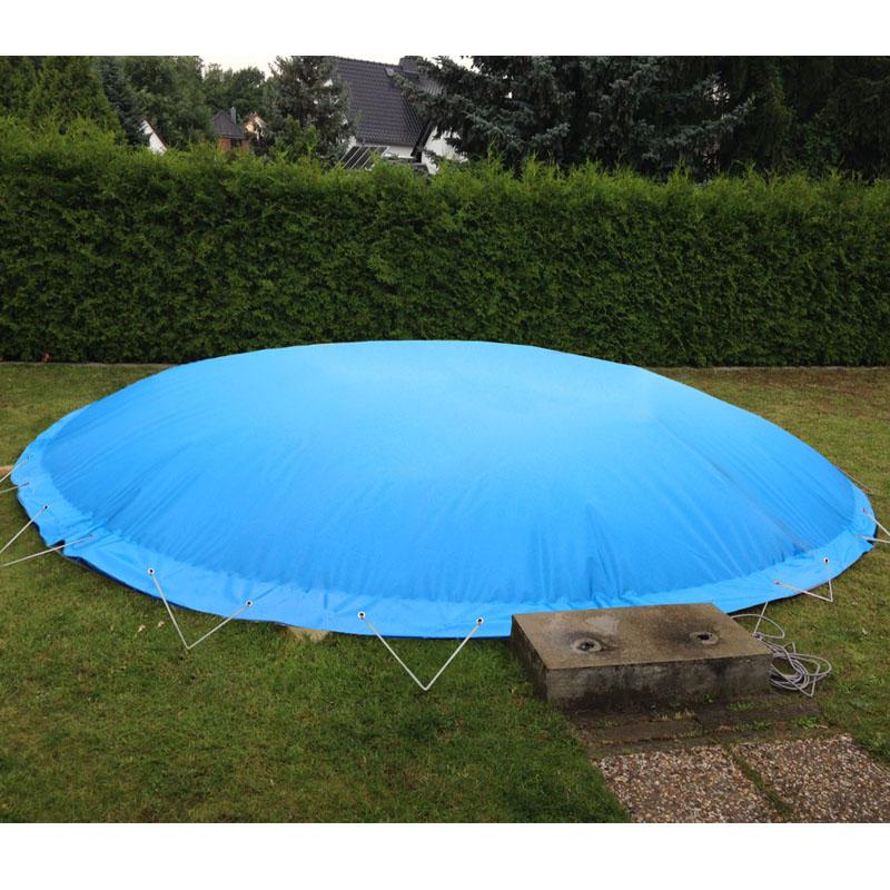 Aufblasbare Schwimmbadabdeckung Rundbecken d 4,20 mstark