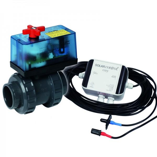 Solarsteuerung Solar Control Easy 230V mit 2 Wege Kugelhahn